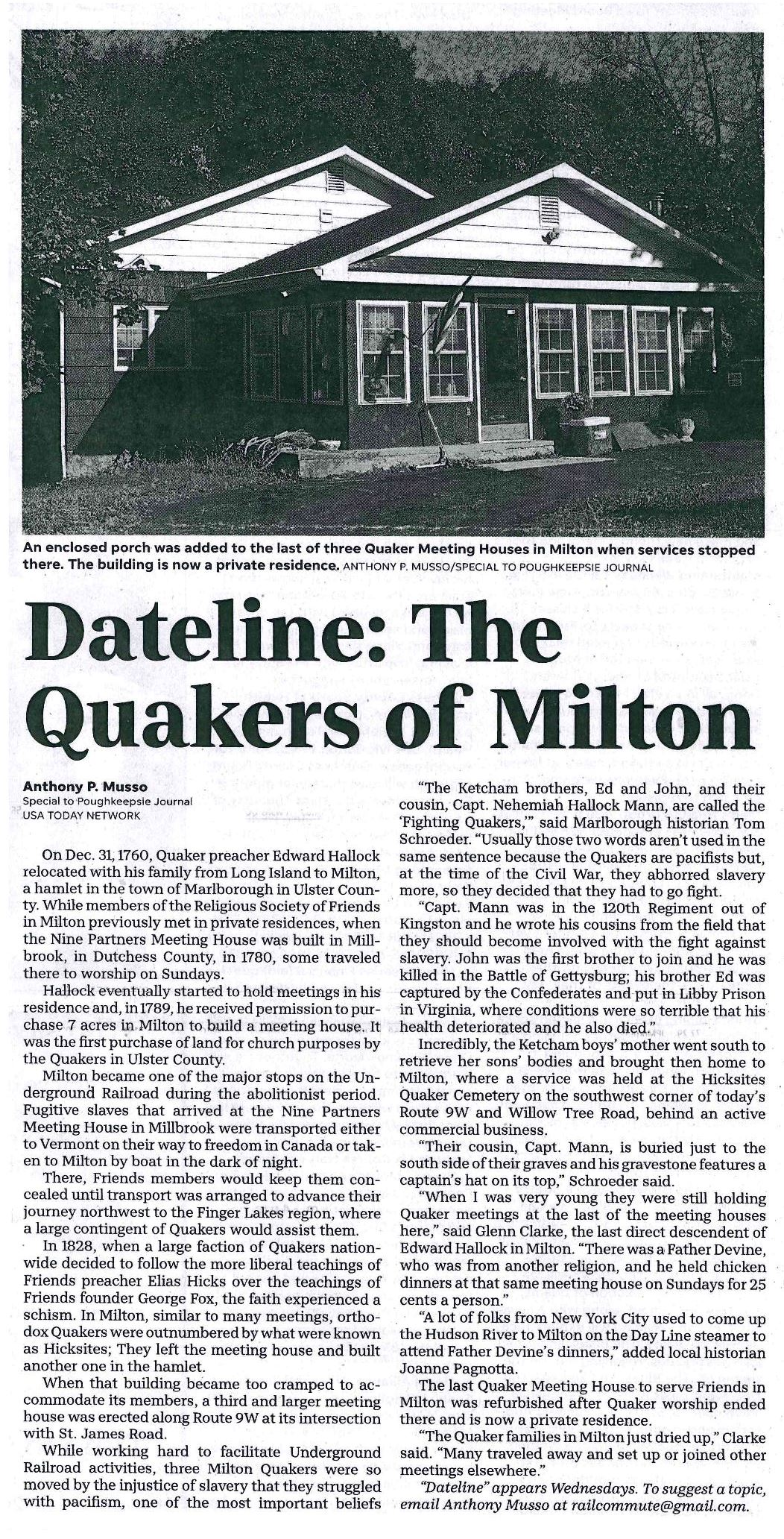 Dateline. The Quakers of Milton